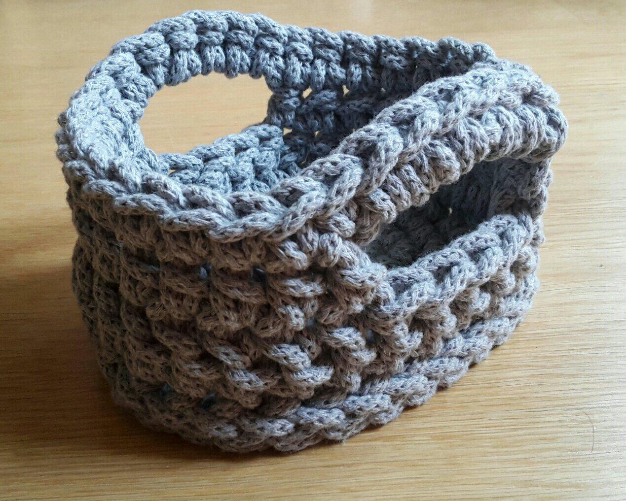 crochet basket oval
