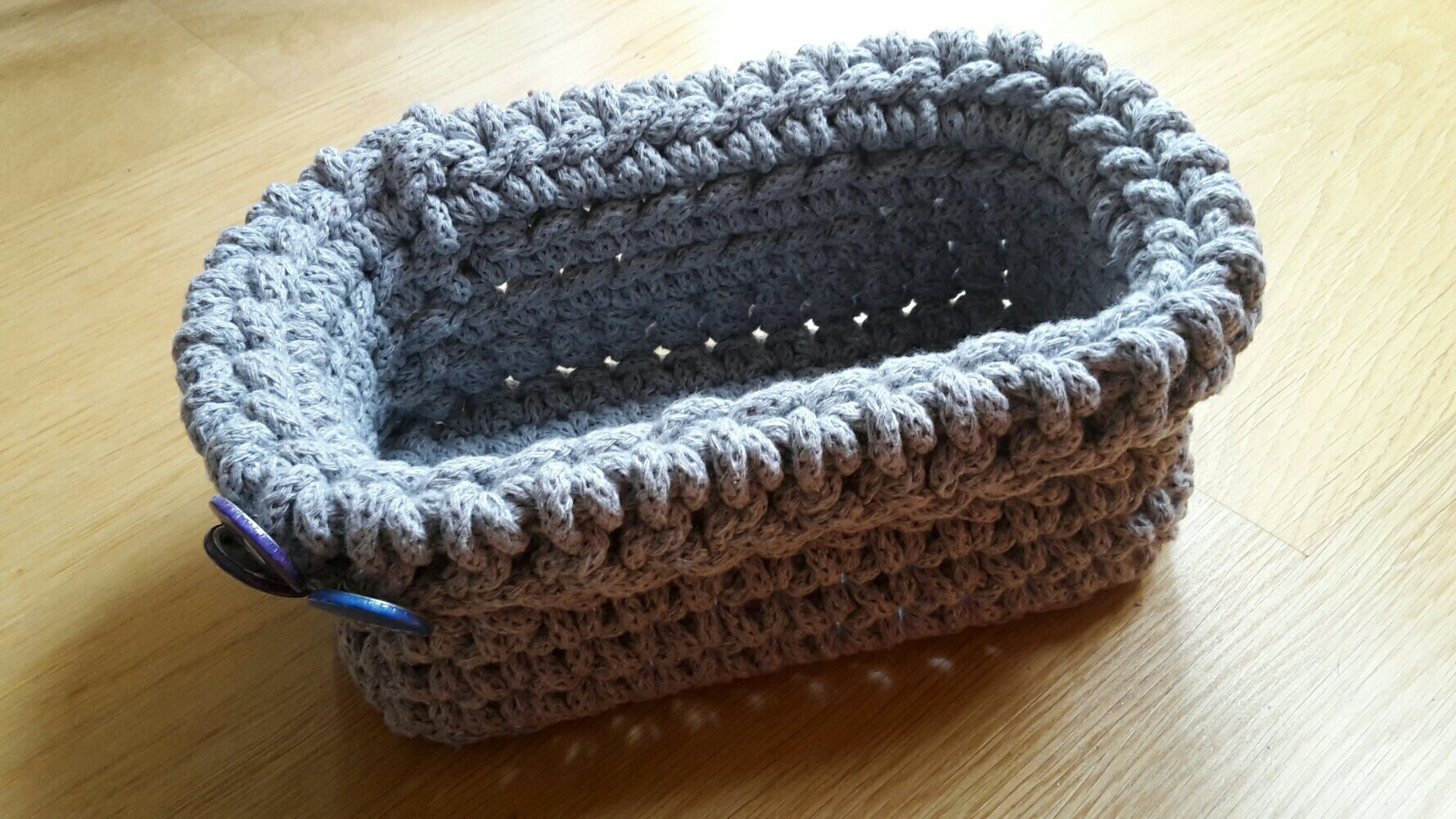 crochet basket rectangle