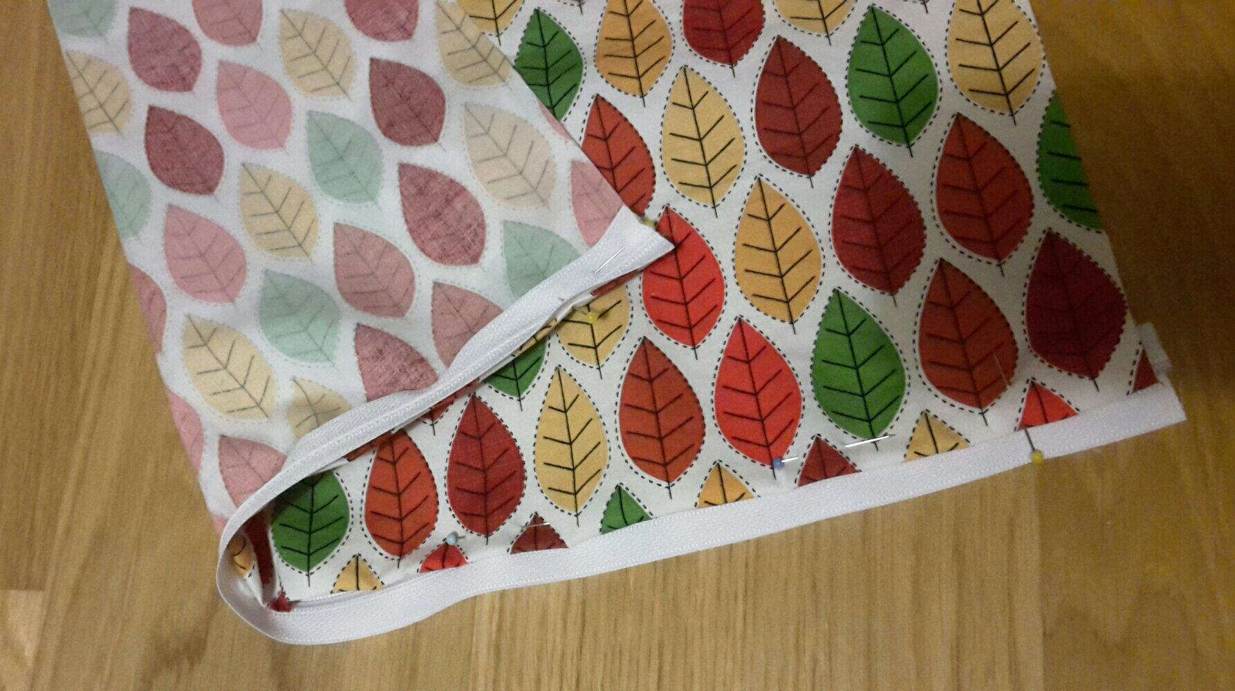 autumn pillow case pinned zipper