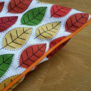 autumn pillow case piping