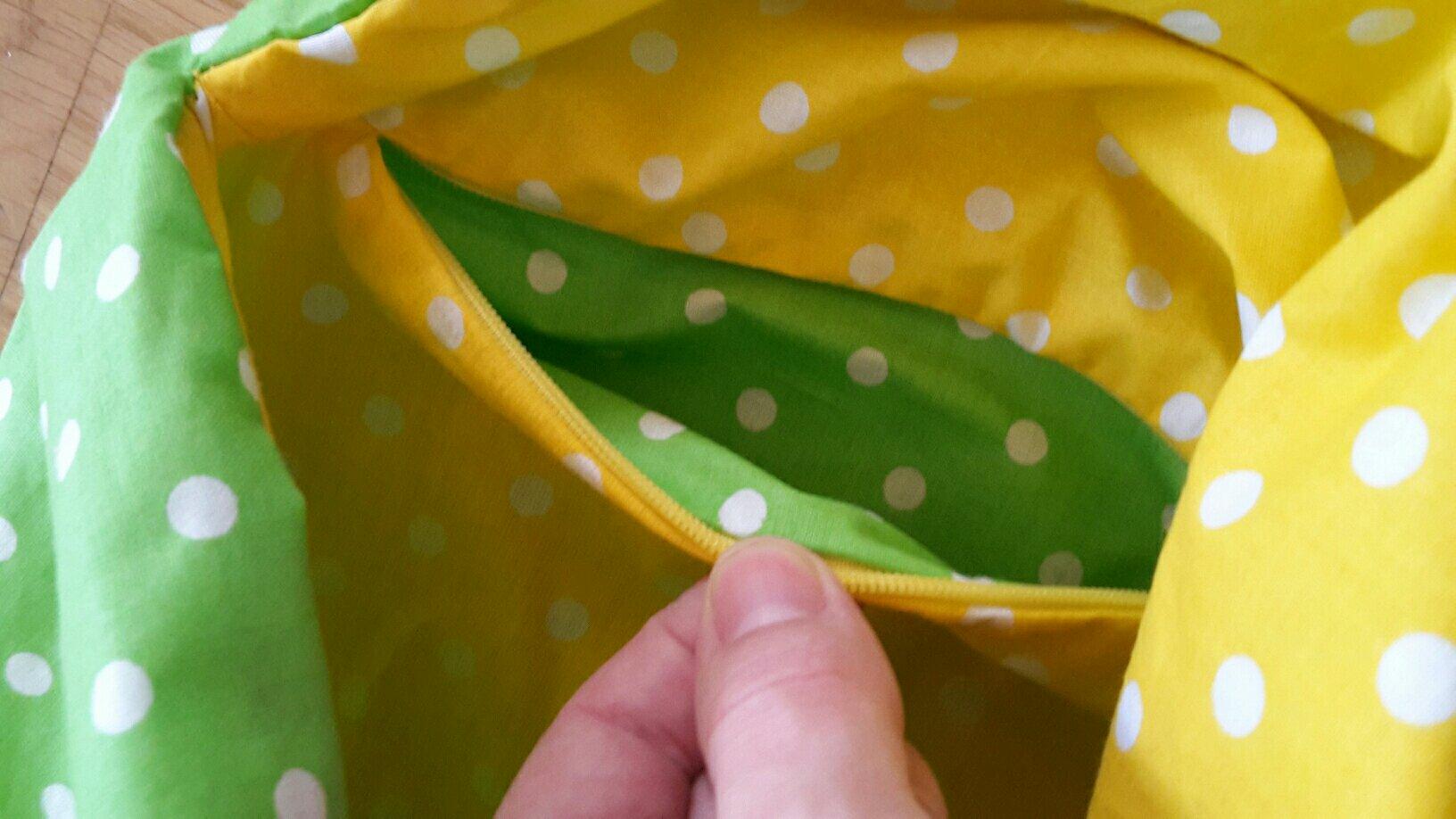 bento origami bag inside pocket