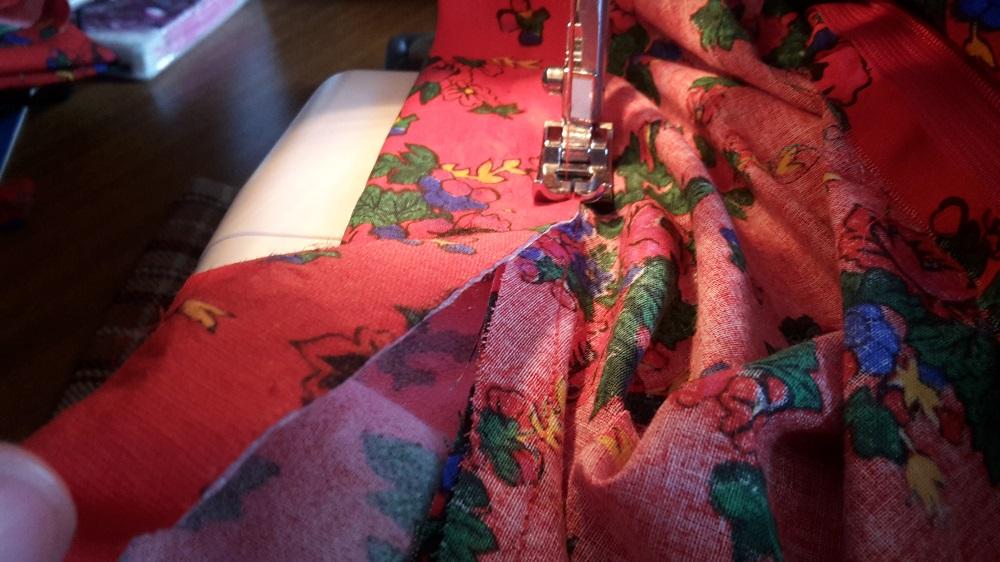 half circle skirt belt sewing