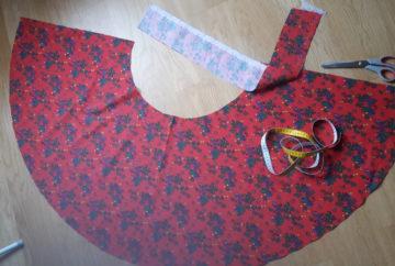 half circle skirt flat