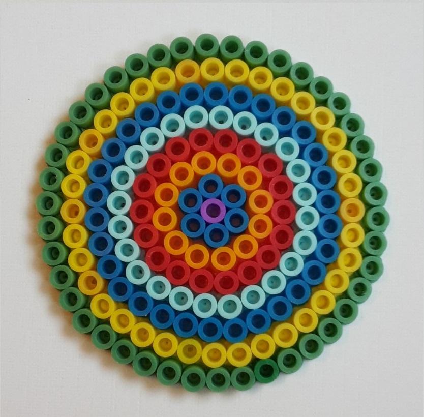 hama beads circle