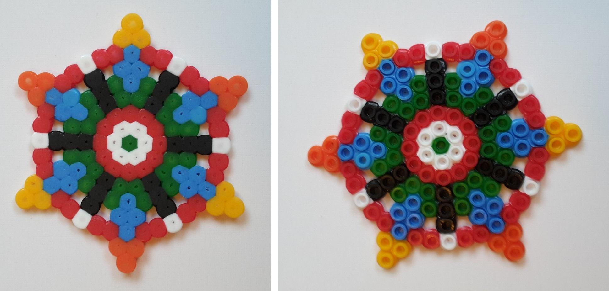 hama beads colorful wheel