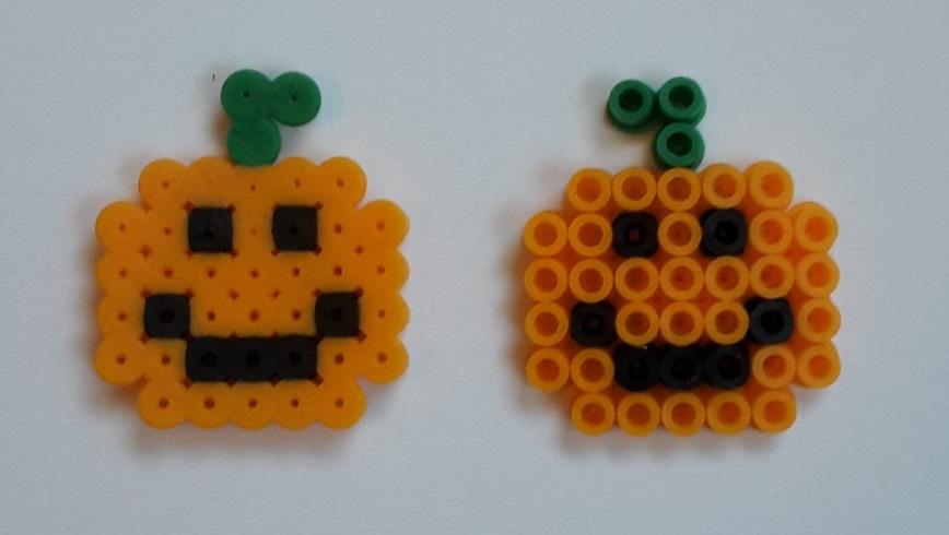 hama beads little pumpkins