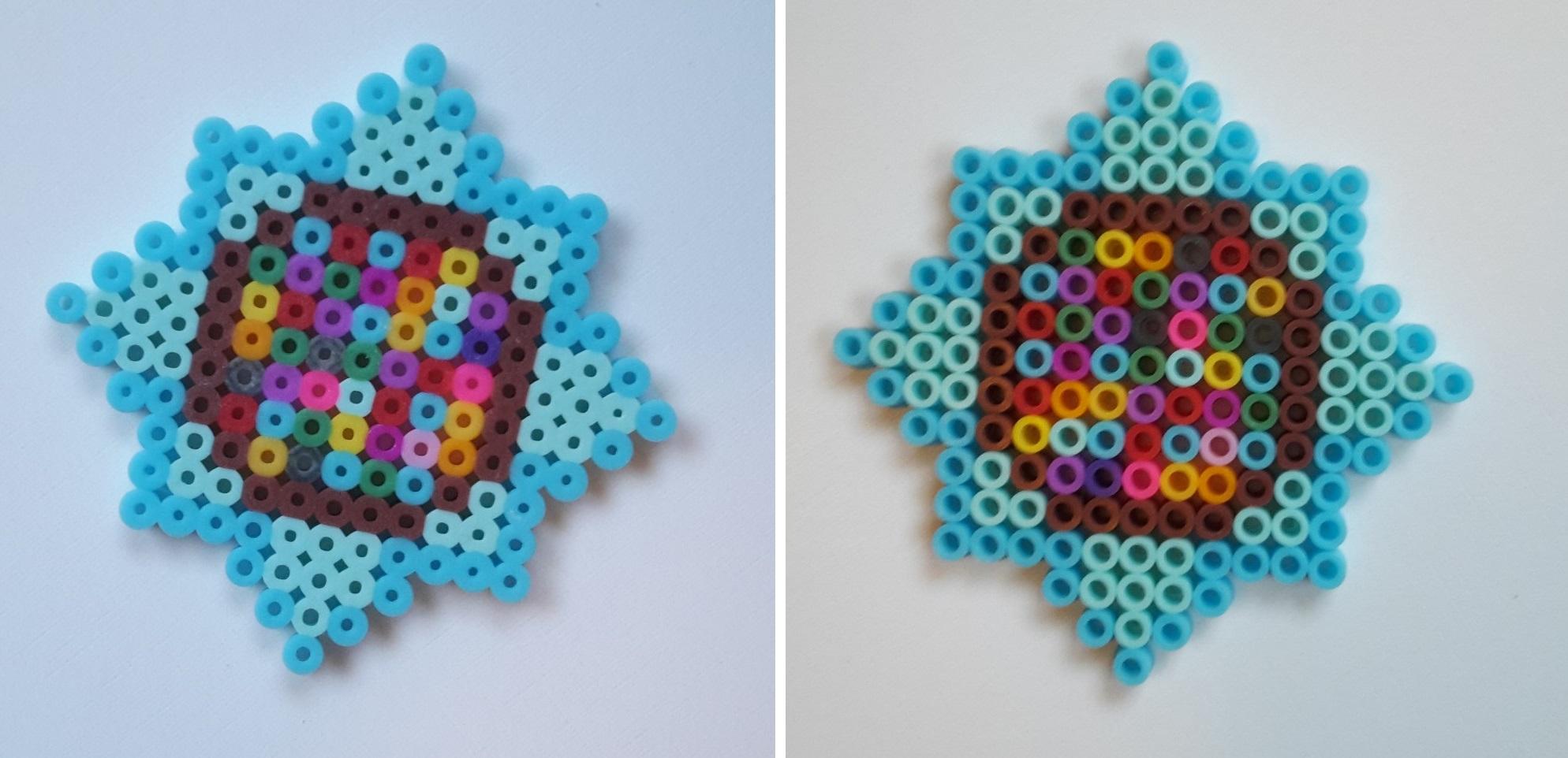 hama beads snowflakes