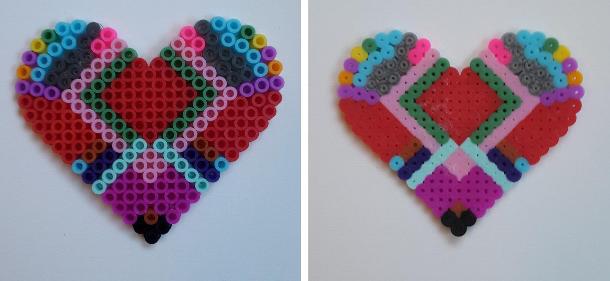 hama beads symmetrical heart
