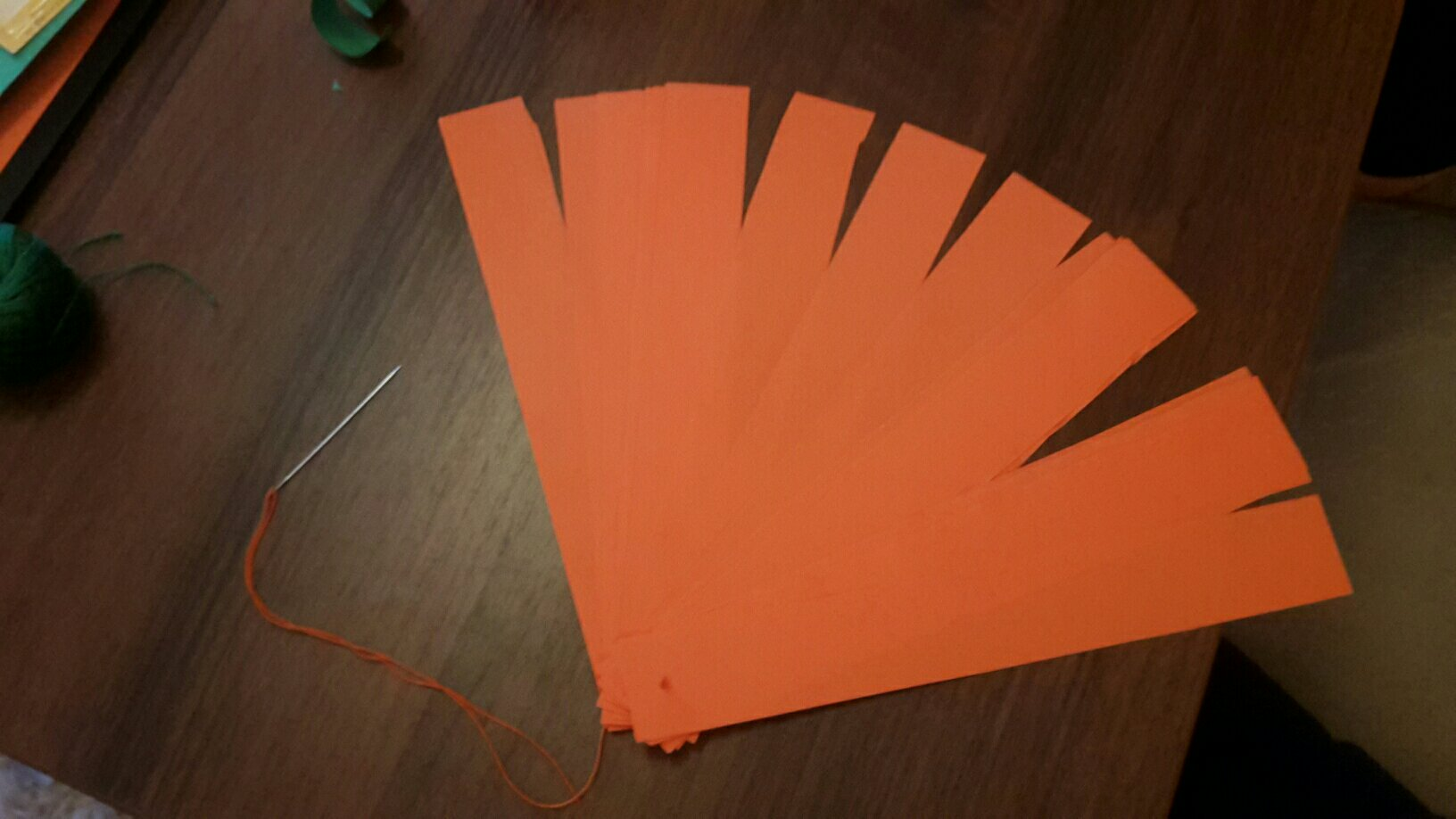 paper pumpkin joined stripes