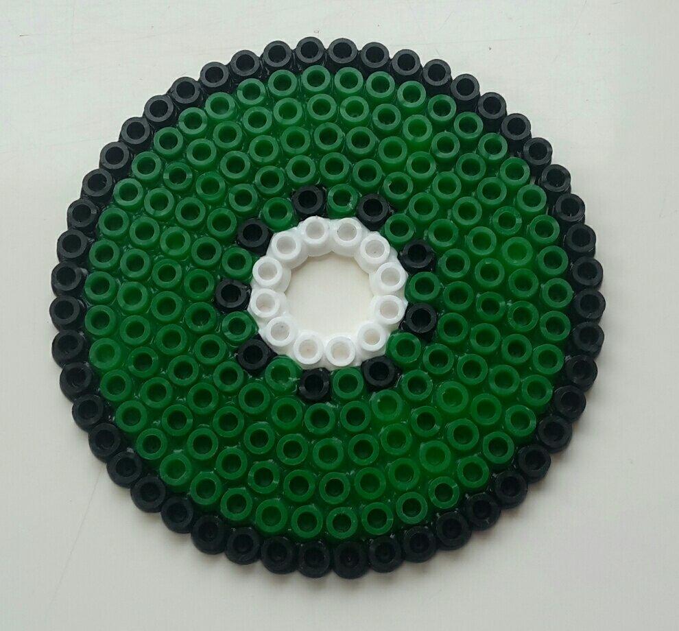 hama beads coaster kiwi