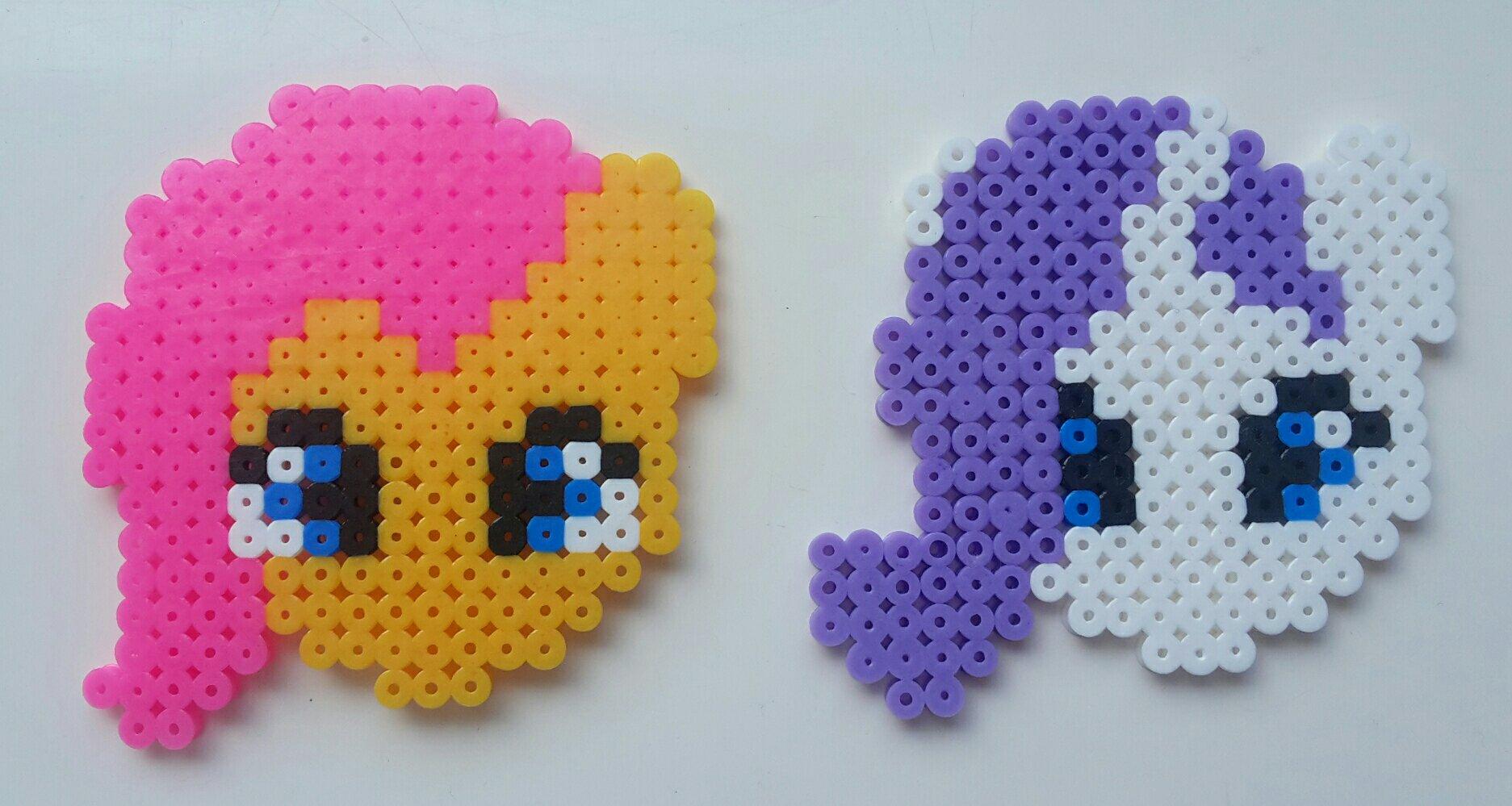 hama beads my little pony fluttershy rarity