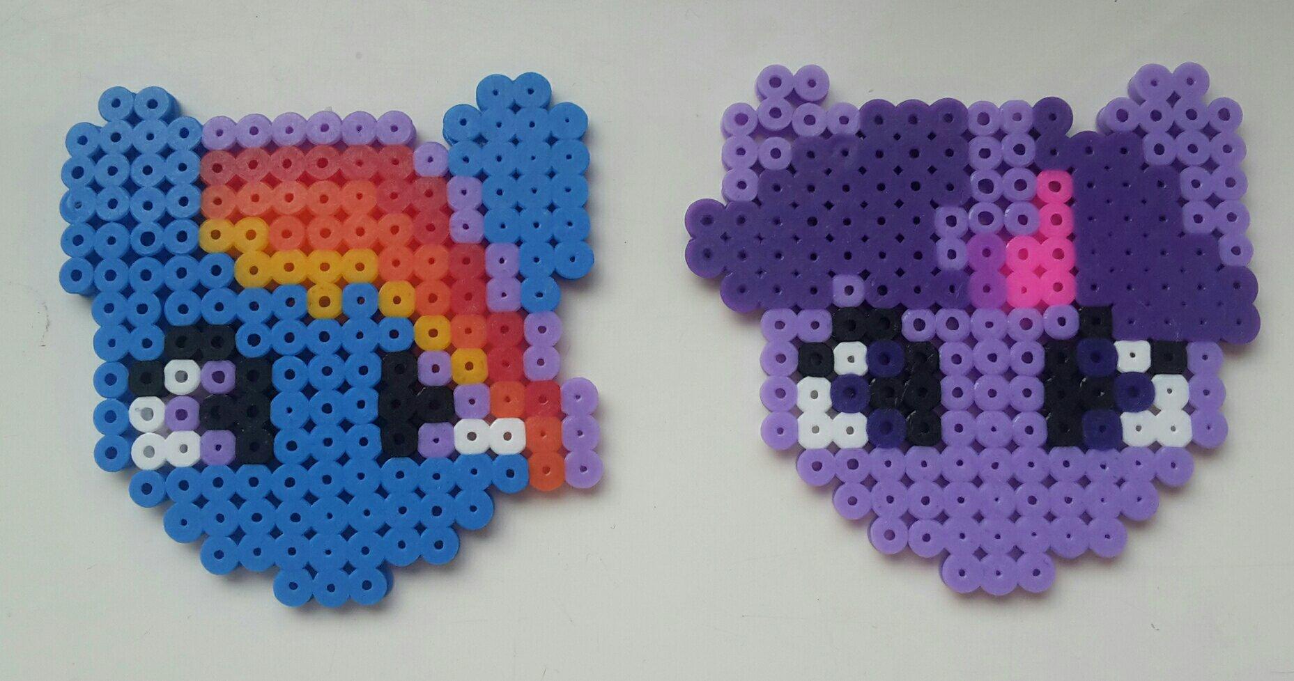 hama beads my little pony rainbow dash twilight sparkle