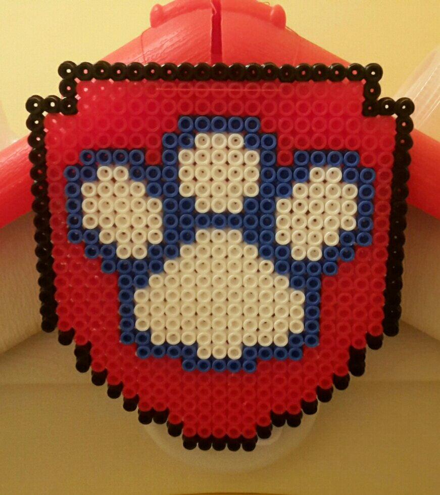 hama beads paw patrol badge