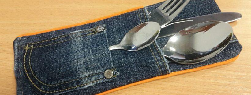 jeans cutlery bag full