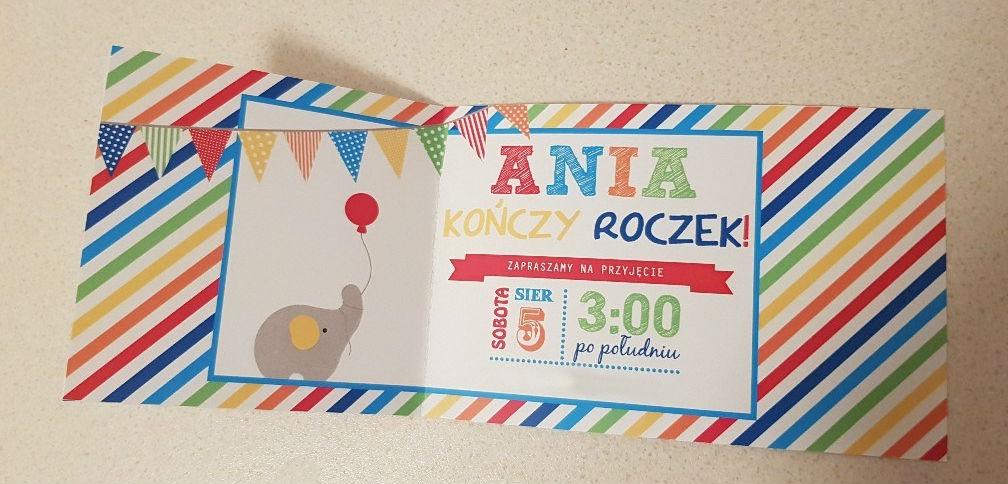 colours birthday invitation opened