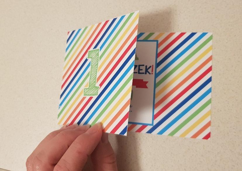colours birthday invitation opening