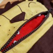 lion bag mouth open