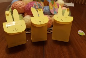 easter paper bunny bags