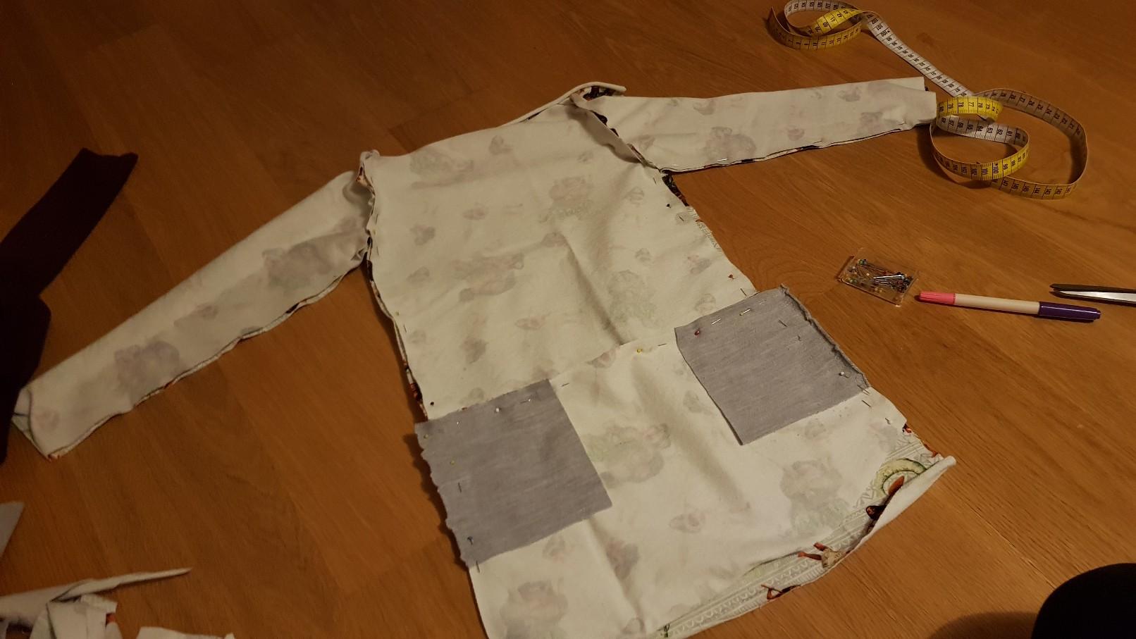 moana vaiana jersey dress front inside pinned