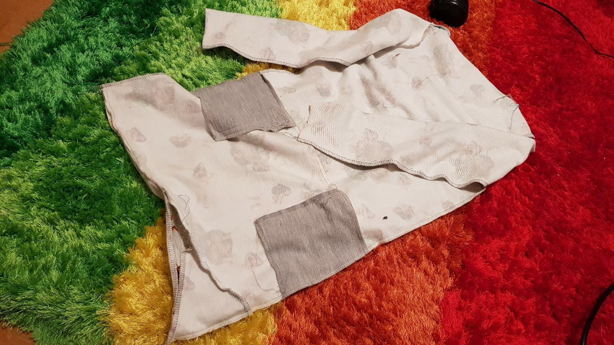 moana vaiana jersey dress front inside sewn