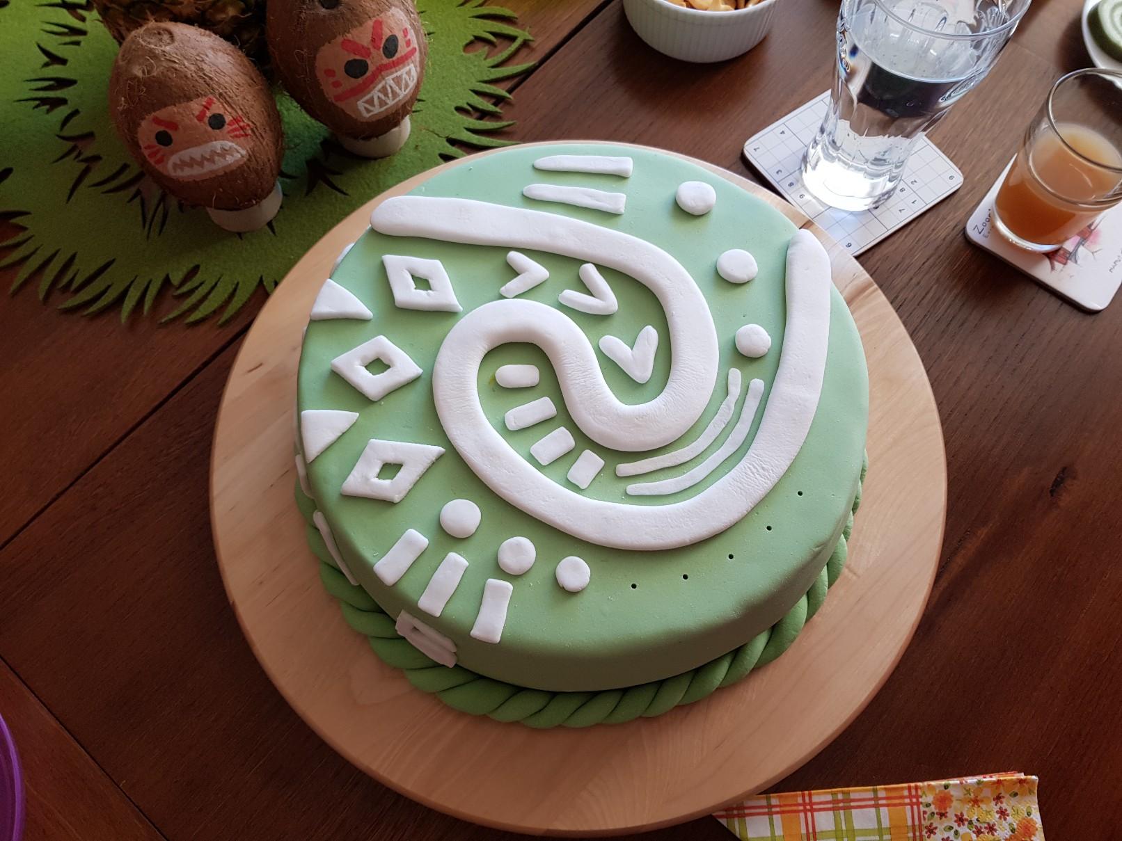 moana vaiana birthday party cake final 1