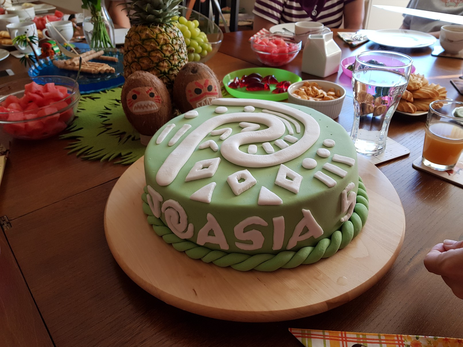 moana vaiana birthday party cake final 3