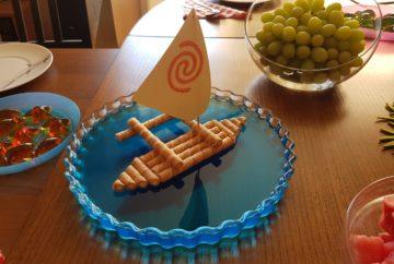moana vaiana birthday party food ideas blue jelly boat