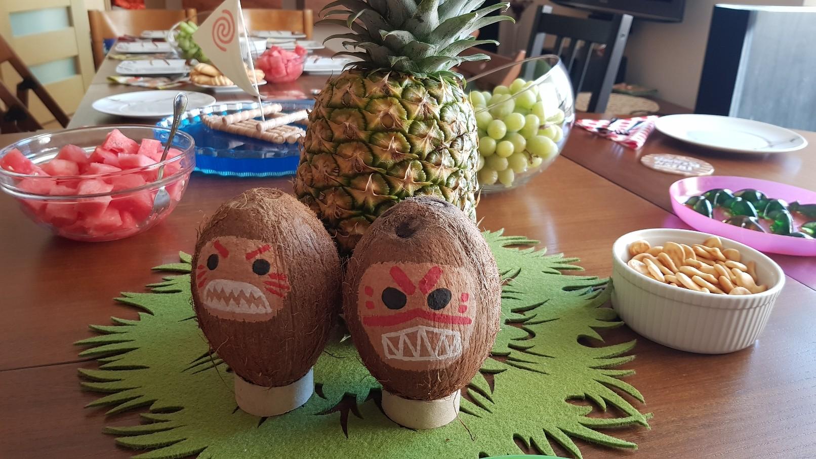 moana vaiana birthday party food ideas pineapple kakamora