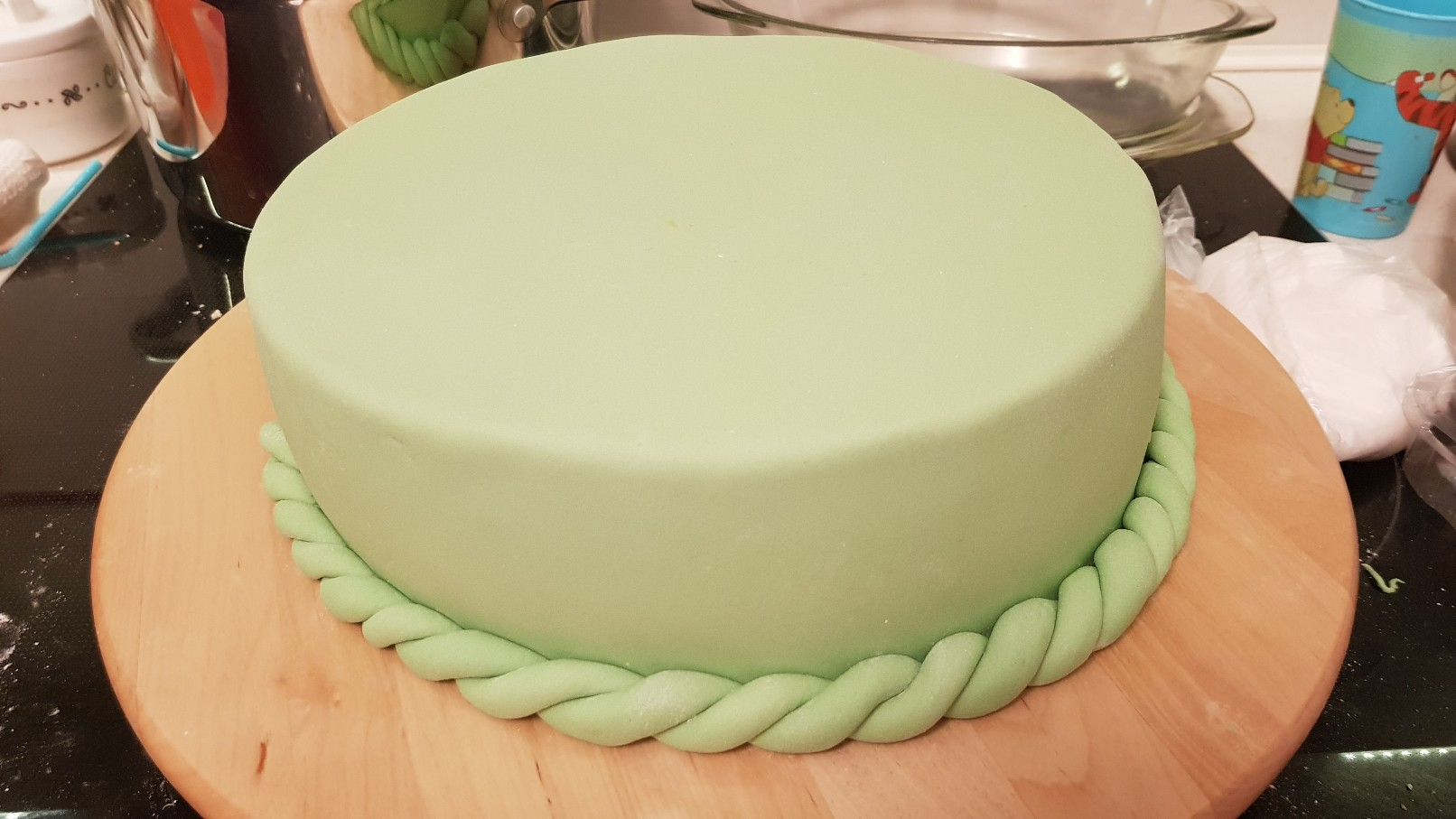 moana vaiana birthday cake step 2