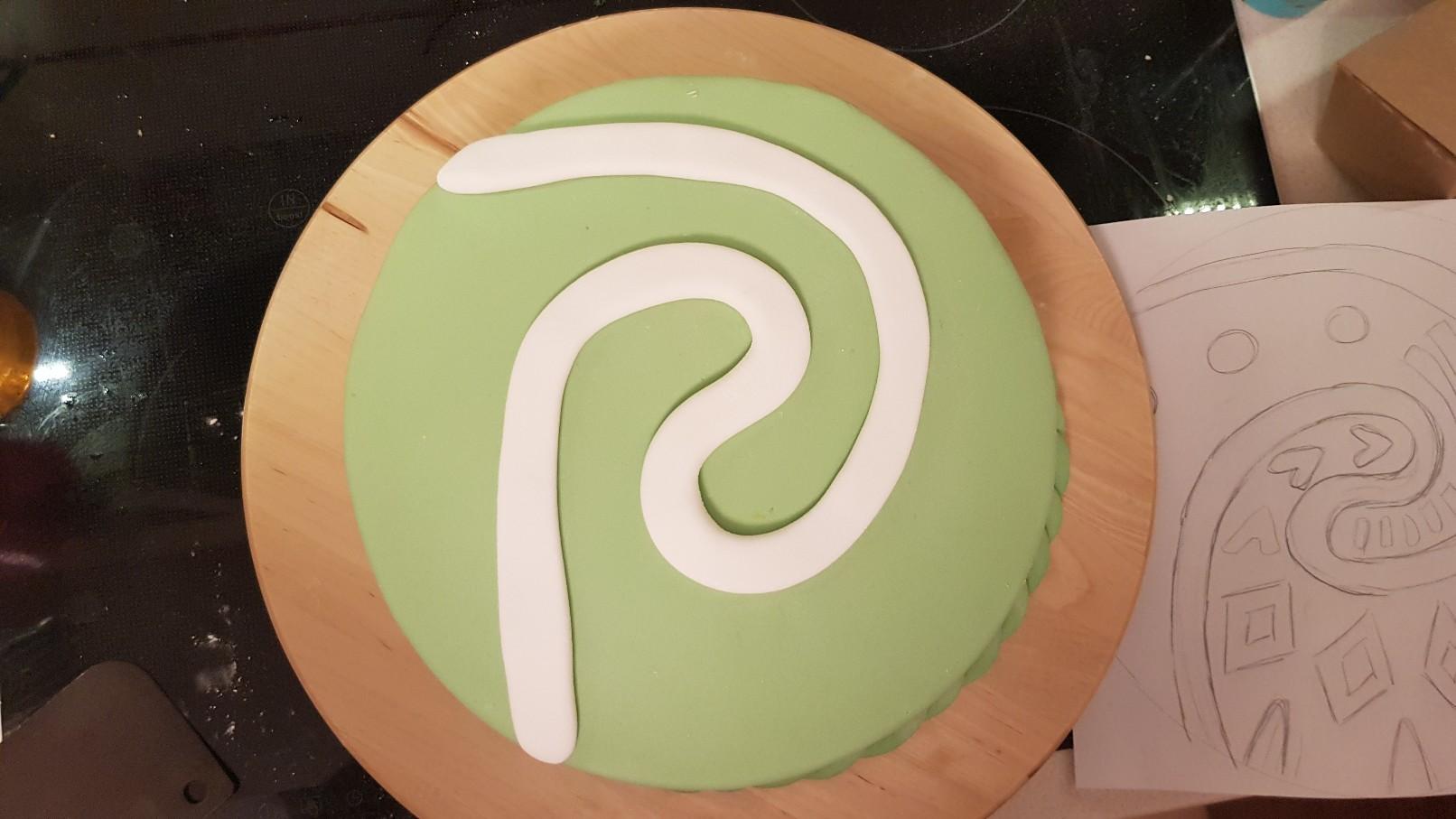 moana vaiana birthday cake step 4