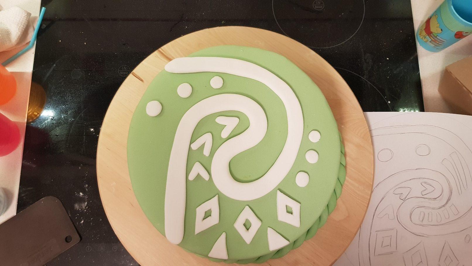 moana vaiana birthday cake step 8