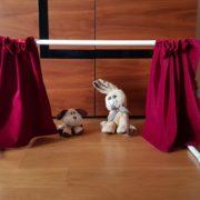 theatre sliding curtain open