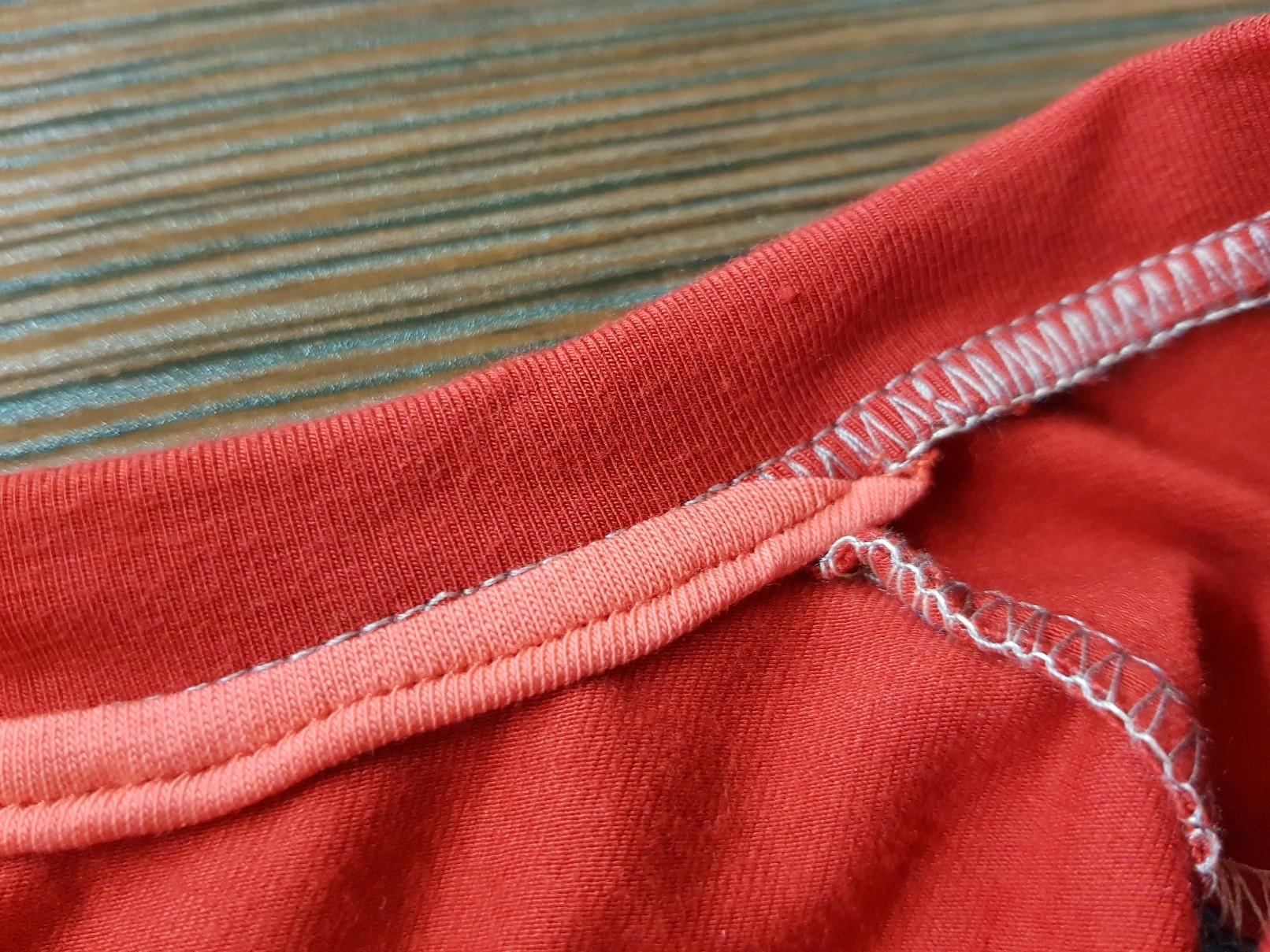 crazy jersey dress collar masking closeup
