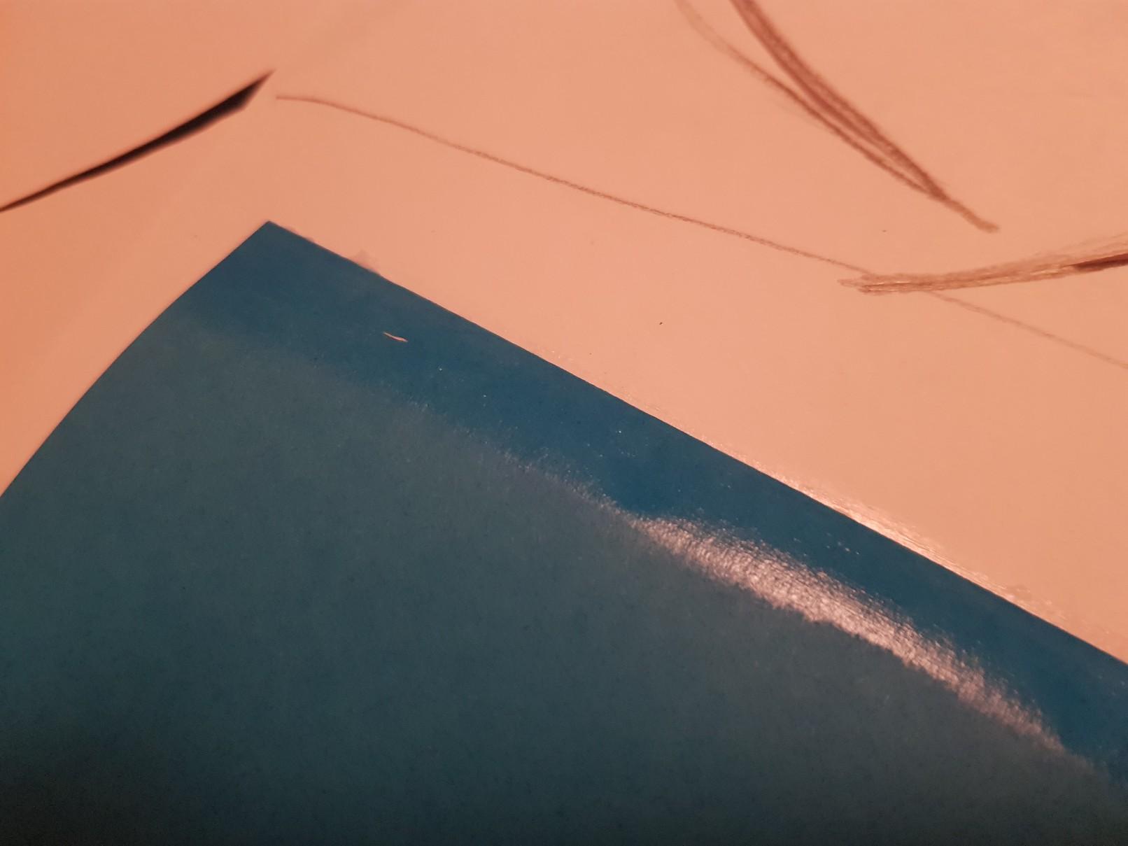 glider heart wedding card blue glue