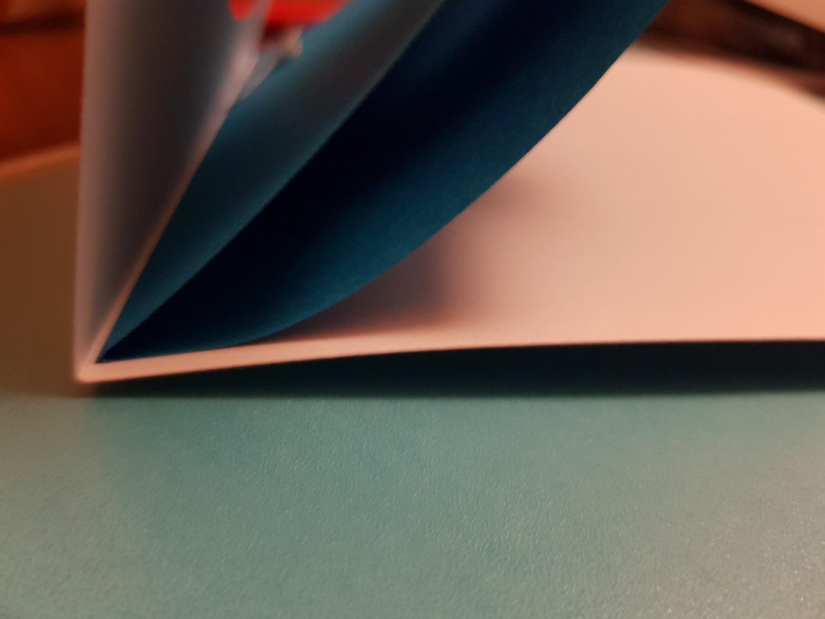 glider heart wedding card blue inside offset