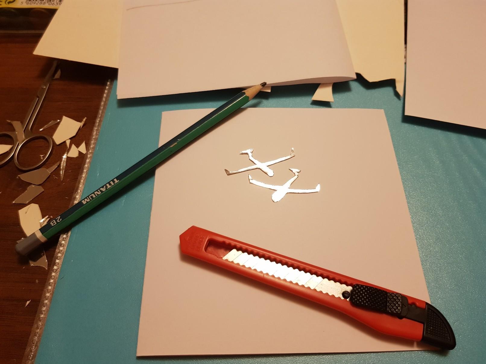 glider heart wedding card gliders cut