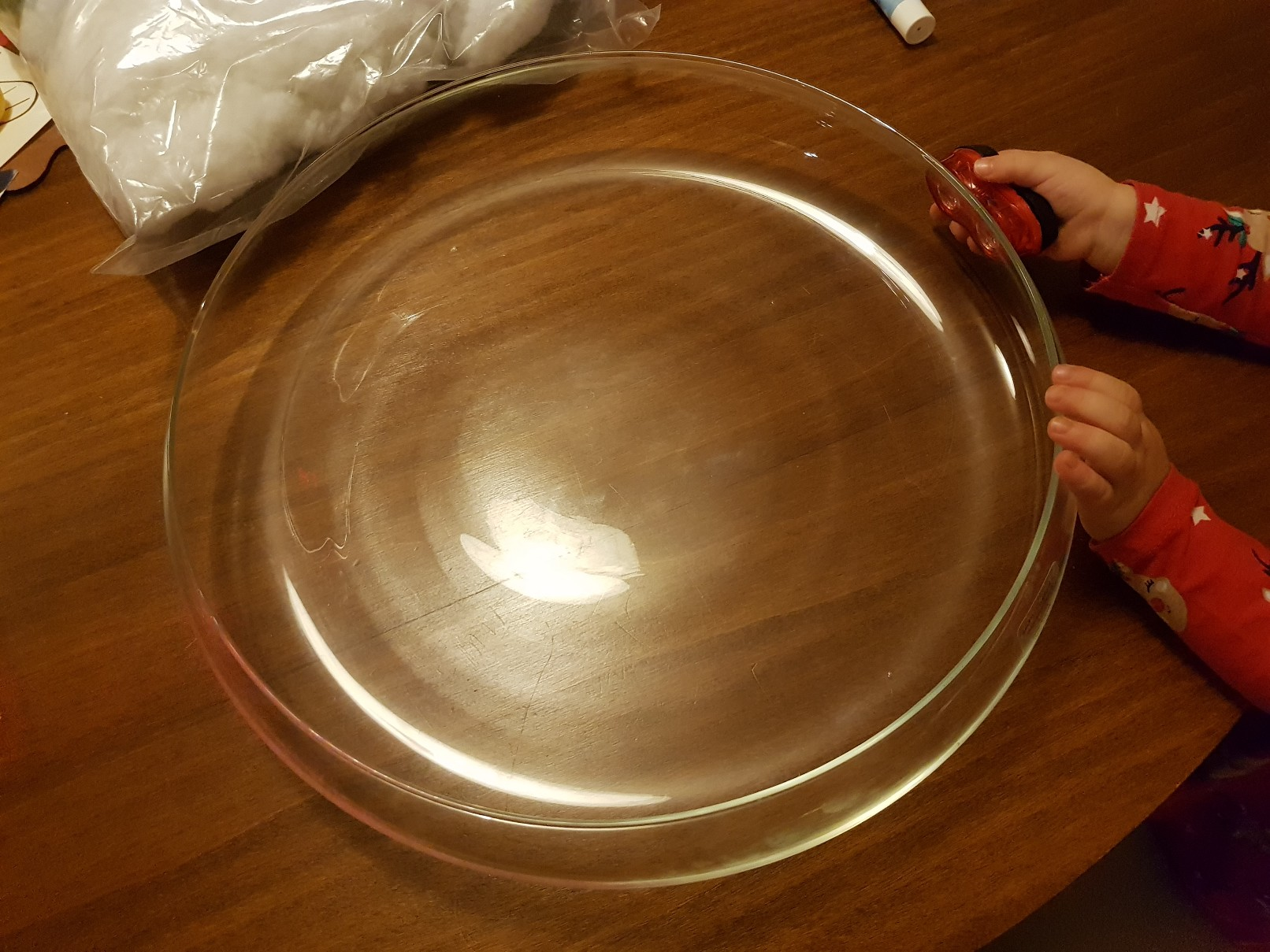winter center piece empty bowl