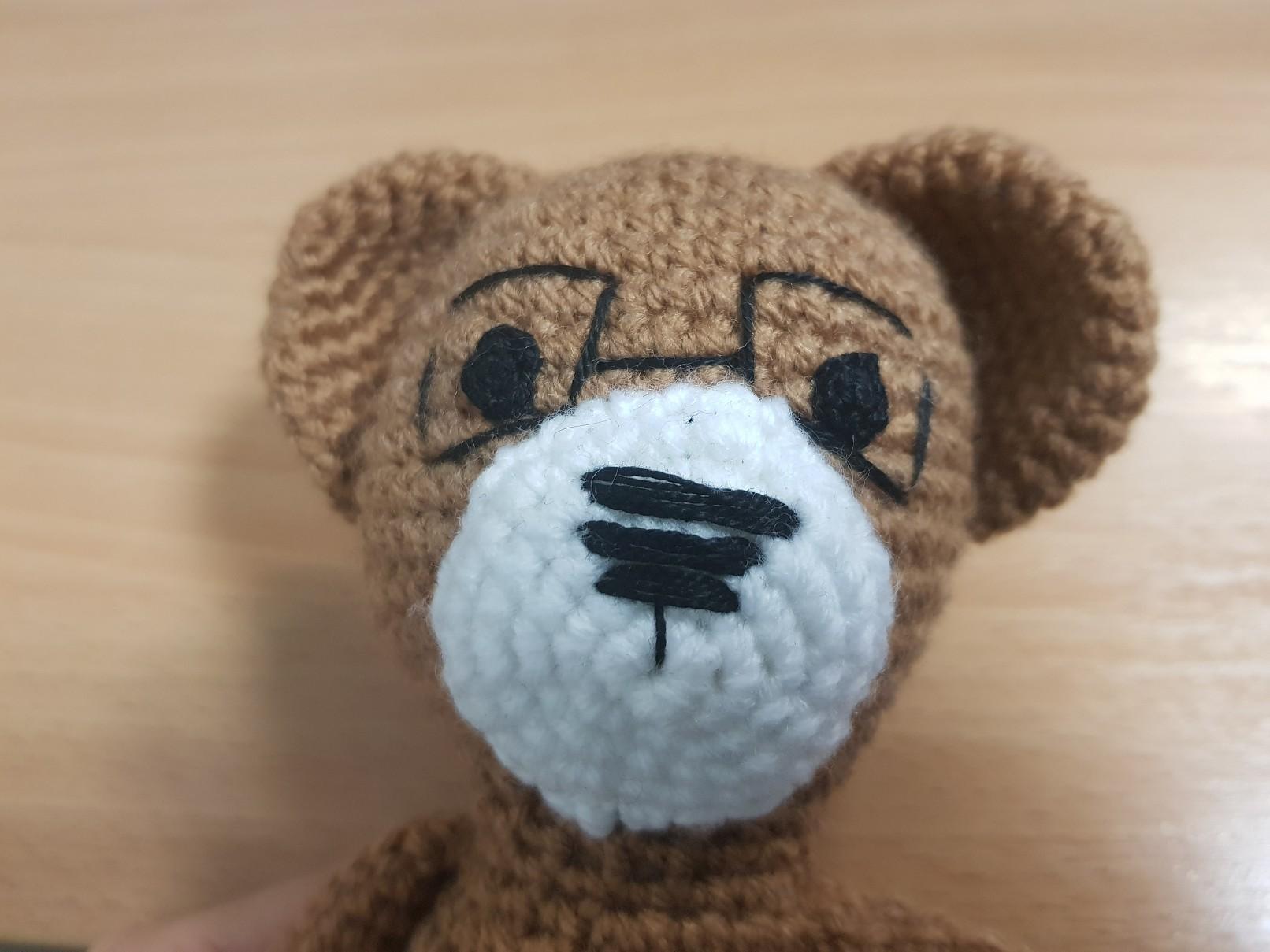 amigurumi crochet bear head