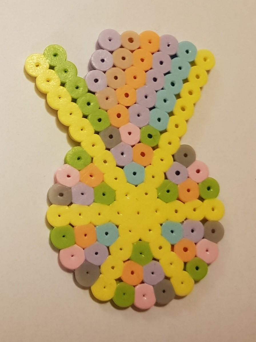 hama beads medallion pastel