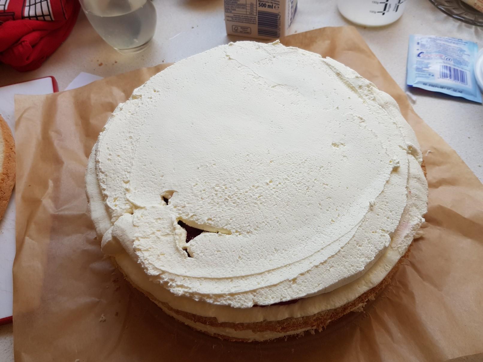 space birthday cake cream filling 2