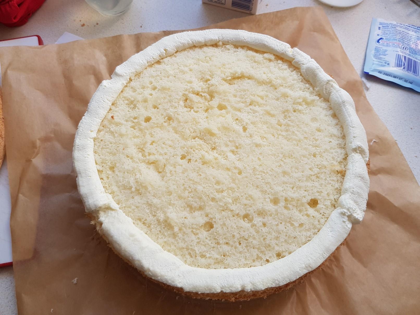 space birthday cake cream filling