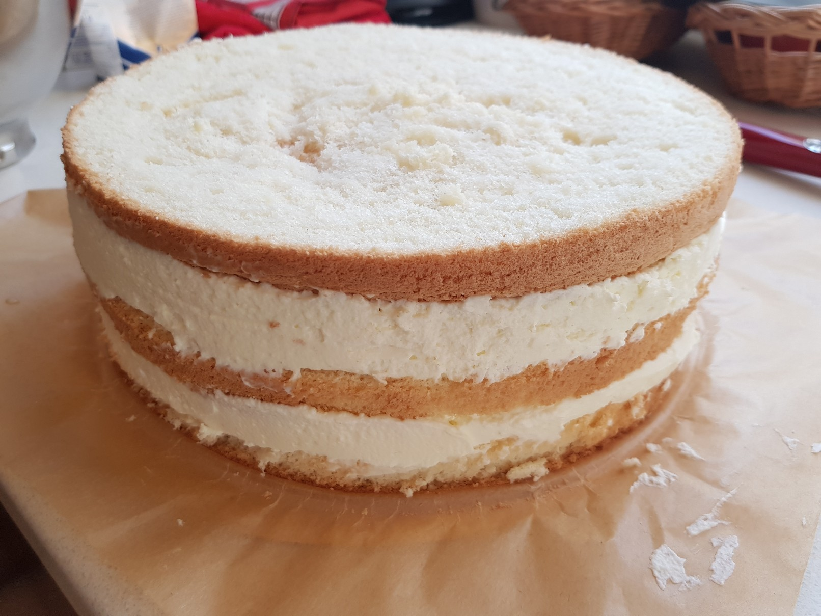 space birthday cake layers naked