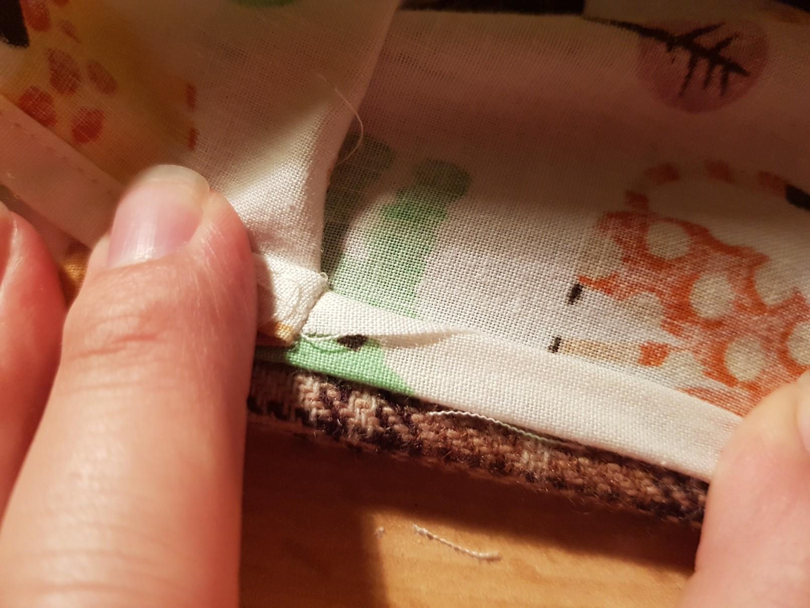 drawstring bag one layer inside detail 3