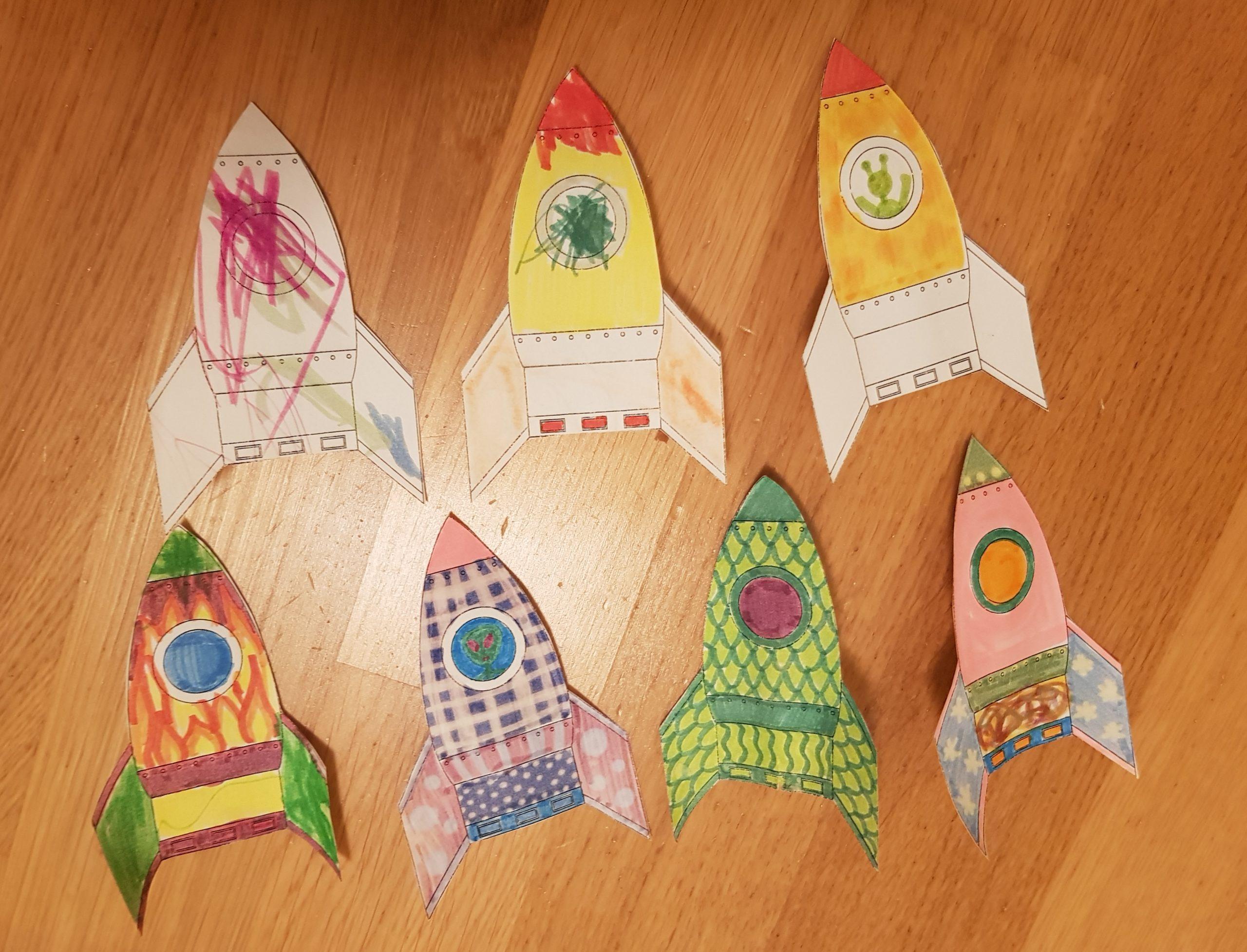 space birthday ideas rockets straws
