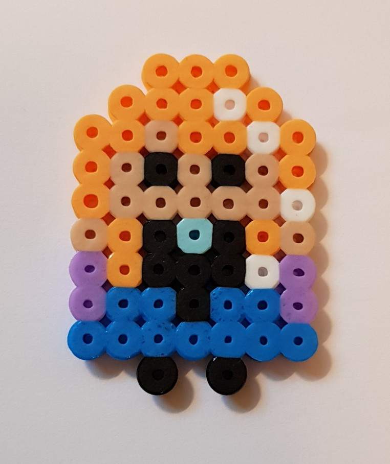 hama beads frozen anna