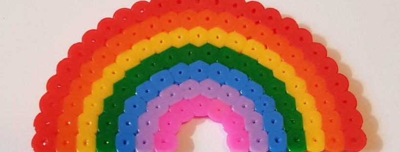 hama beads rainbow