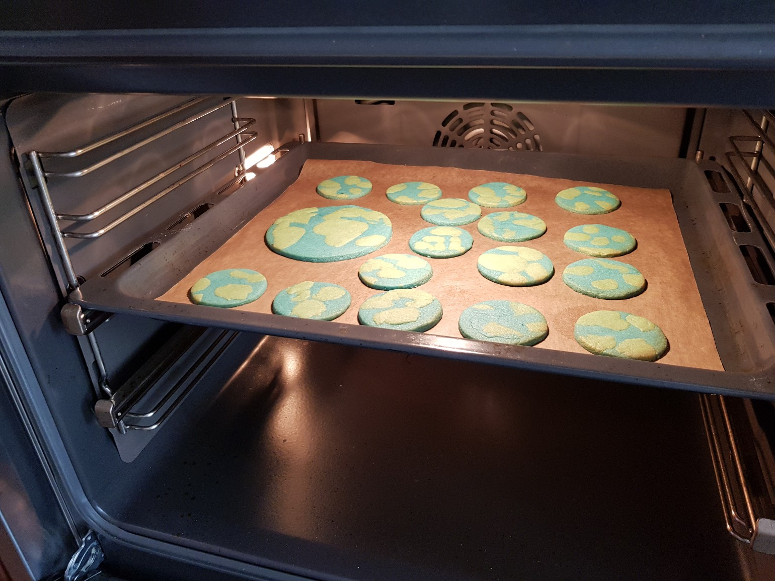 earth day cookies baking