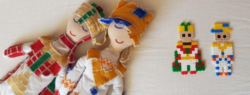 hama beads platia zami with dolls