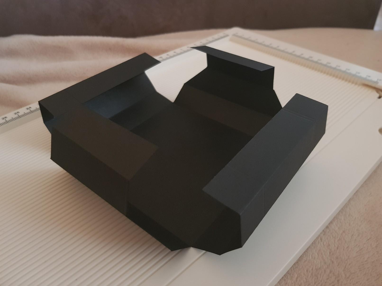 shadow box base scored bend