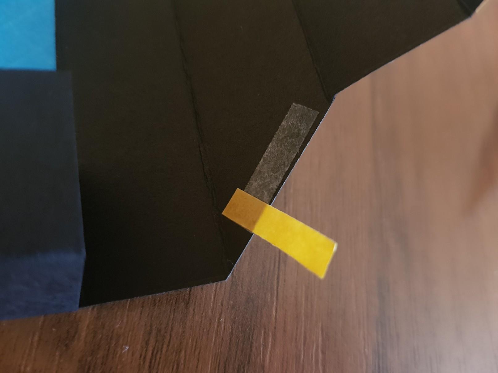 shadow box base tape masking
